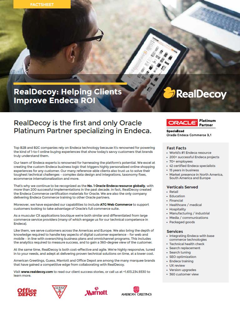 RealDecoy Endeca Factsheet