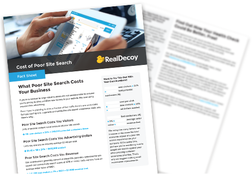 Cost of Poor Site Search