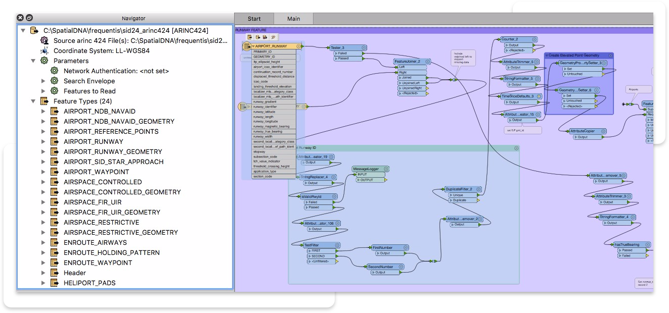 ARINC 424 Reader in FME Workspace