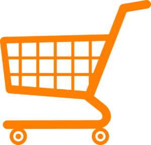 orange shopping cart ecommerce